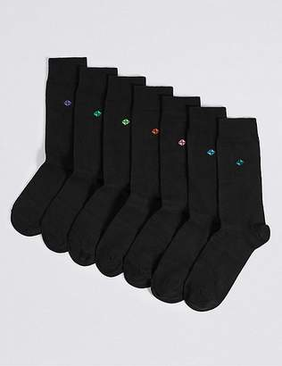 """Marks and Spencer 7 Pack Cool & Freshfeetâ""""¢ Cotton Rich Socks"""