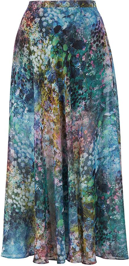 Blurry Floral Maxi Skirt