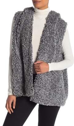 Coffee Shop Whubby Hooded Faux Fur Vest