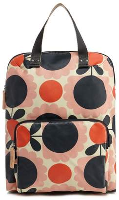 Orla Kiely Pink Scalloped Floral Print Backpack