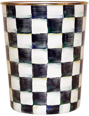 Mackenzie Childs MacKenzie-Childs Courtly Check Wastebasket