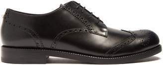 Valentino Rockstud-heel leather brogues