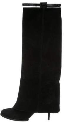 Givenchy Suede Pointed-Toe Boots