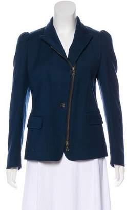 Dries Van Noten Wool Zip-Up Jacket