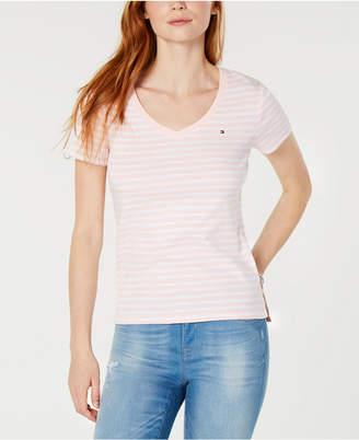 Tommy Hilfiger V-neck Striped T-Shirt