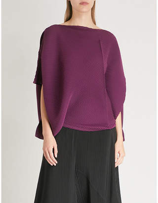 Issey Miyake Asymmetric pleated top