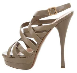 Versace Multistrap Platform Sandals