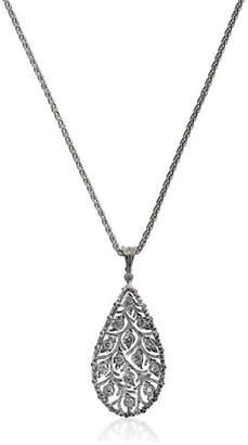 Buccellati Ramage Diamond Charm Pendant Necklace