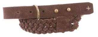 Rag & Bone Suede Braided Belt
