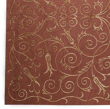 Scroll Silk & Wool Rug in select Colors