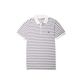 Lacoste Med Ss Ribbed Collar Sleeve Polo