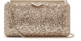 Jimmy Choo Ellipse glitter clutch-bag
