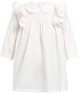 Comme des Garcons Ruffled Cotton Poplin Blouse - Womens - White