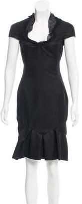 Valentino Cap Sleeve Wool Dress w/ Tags