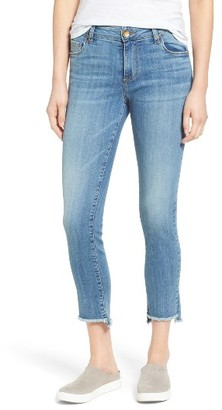 Women's Kut From The Kloth Reese Frayed Straight Leg Ankle Jeans $89 thestylecure.com