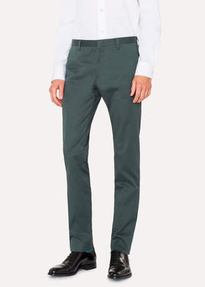 Paul Smith Men's Slim-Fit Bottle Green Stretch-Cotton Chinos