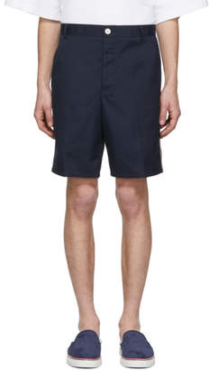 Thom Browne Navy Unconstructed Shorts