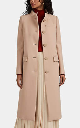 Givenchy Women's Wool Crepe Fitted Coat - Beige, Tan