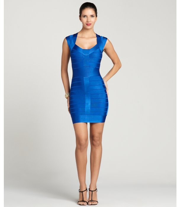 French Connection electric blue spotlight knit dress