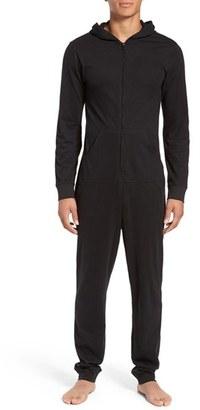 Calvin Klein Origins Hooded Cotton Jumpsuit $65 thestylecure.com