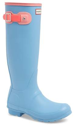 Hunter Colorblock Knee High Rain Boot