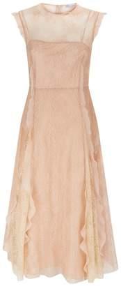 RED Valentino Ruffle Trim Lace Dress