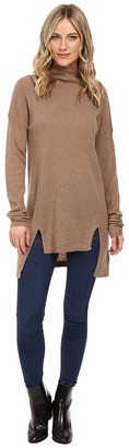 Christin Michaels Madeline High-Low Turtleneck Cashmere Sweater $229 thestylecure.com
