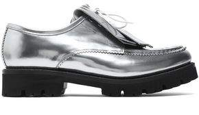 Grenson Fringed Mirrored-Leather Brogues