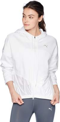 Puma Women's Transition Full Zip Hoodie White XL