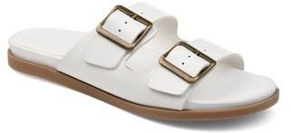Brinley Co. Womens Dual Strap Buckle Detail Sandal
