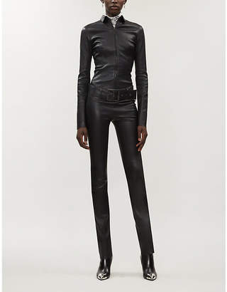 Jitrois Kill buckle-belt leather jumpsuit