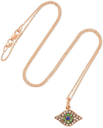 Ileana Makri Kitten Eye 18-karat Rose Gold Multi-stone Necklace