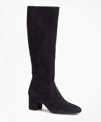 Brooks Brothers Suede Knee-High Boots