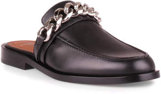 Givenchy Black leather chain loafer