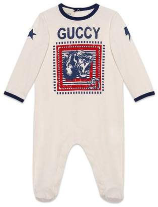 Gucci Baby sleepsuit with Guccy print