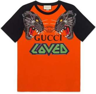 Gucci Oversize t-shirt with tigers