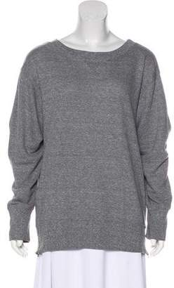 Current/Elliott Zip-Accented Long Sleeve Sweater