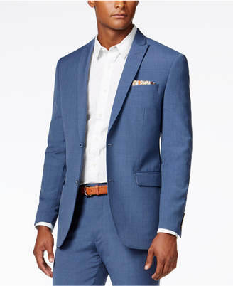 Bar Iii Men's Dusty Blue Solid Slim-Fit Jacket, Created for Macy's $425 thestylecure.com