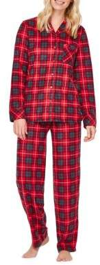 Sleep Nation Two-Piece Plaid Pajamas - Family Pajamas