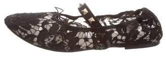 Valentino Rockstud Lace Flats