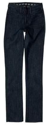 Earnest Sewn Mid-Rise Straight-Leg Jeans