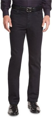 Brioni Five-Pocket Denim Jeans, Black $750 thestylecure.com