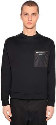 Prada Cotton & Nylon Sweatshirt W/ Pocket