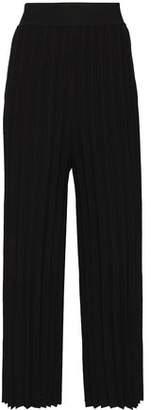 Derek Lam 10 Crosby Pleated Stretch-knit Wide-leg Pants
