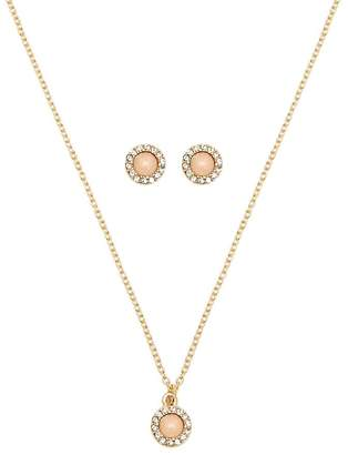 Forever 21 Faux Stone Necklace & Earrings Set