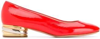 Casadei metallic heel pumps