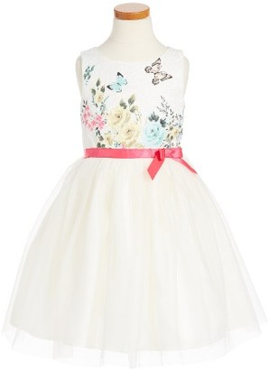 Toddler Girl's Ruby & Bloom Floral Butterly Fit & Flare Dress $65 thestylecure.com