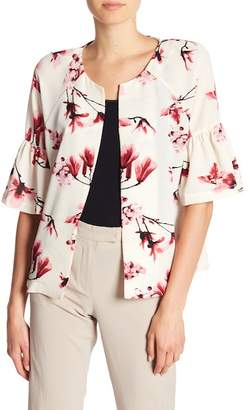 Bobeau B Collection by Ash Puff Sleeve Floral Print Jacket