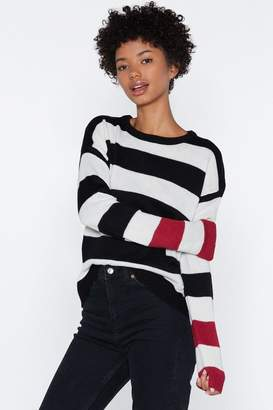 Nasty Gal Time to Knit the Road Striped Sweater