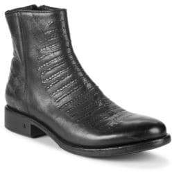 John Varvatos Simmons Leather Ankle Boots